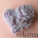 Širdelė su rože